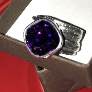 SILPADA PURPLE GLASS 925 SS RING